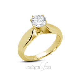 1.20ct I Si2 Round Natural Diamond Yellow Gold Solitaire Engagement Ring