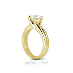1.02ct E Si1 Round Natural Diamond Yellow Gold Solitaire Engagement Ring