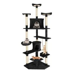 80quot; Cat Tree Condo Tower w Scratching Post Pet Kitty Play Climbing Furniture
