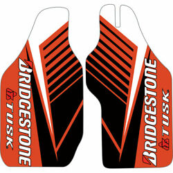 Attack Graphics Turbine Lower Fork Guard Decal Red - Fits Honda Crf450x 2012