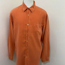 Tommy Bahama Menand039s Silk/cotton Stripe Long Sleeve Summer Shirt Size L A60-24