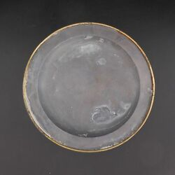 Plate Dish Tin Circled Bronze With Cardinale Xviie Century France