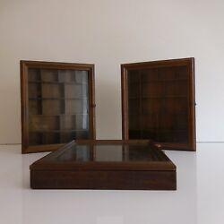 3 Displays Rustic For Objects Of Collection Handmade Vintage 20th Pn France