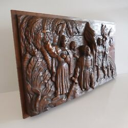 Sculpture High Relief Wood Renaissance - Middle Aged Men Christianity France