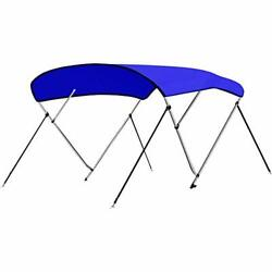 4 Bow Bimini Top Boat Cover - Front Hold-down Straps And Rear Support Arms, Incl