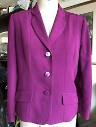 Size 12 Eastex Dark Pink Plum Classic Tailored Jacked Fully Lined Quality Smart