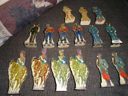 15 Marx Soldier Of Fortune Game Toy Soldiers Tin Litho Targets German Us Italian