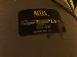 Altec 604e Speakers With N1500-a Pair