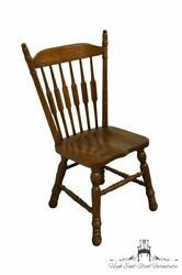 Cochrane Furniture Solid Oak Country French Cattail Back Dining Side Chair