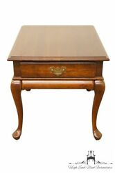 Cresent Furniture Solid Cherry Queen Anne 22 End / Lamp Table