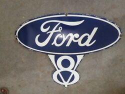 Porcelain Ford Sign Size 35.5 X 28 Inches Pre-owned