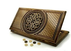 Backgammon Sets Wooden Board Game Armenian Handmade Chess Carved Table Game Art