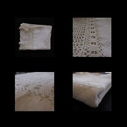 Tablecloth Table Or Above Of Bed Lace Art-dandeacuteco Vintage 1900 1920