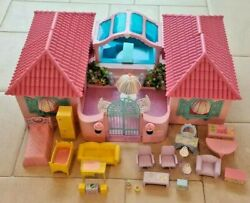 Vintage My Little Pony Paradise Estate Playset Accessories G1 Mlp Pink Roofs