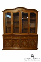 High End Italian Provincial Tuscan Style 72 Buffet W. Lighted Display China ...