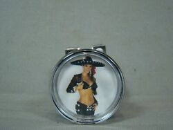 Charra Two Piece Steering Wheel Spinner Charra Suicide Knob Chicana Mexican Girl