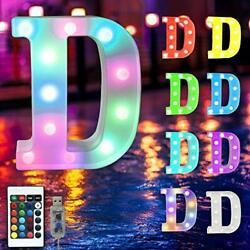 16 Color Changing Marquee Letter Lightlight Up Colorful 26 Alphabet Rgb-d