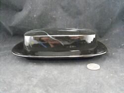 Mikasa Galleria Fk701 Opus Black Butter Dish With Lid