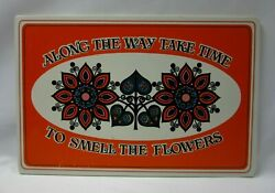 Yorkraft Along The Way Take Time To Smell The Flowers Wall Plaque Wooden