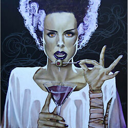 I Put A Spell On You By Mike Bell Bride Frankenstein Best Canvas Wall Art Print