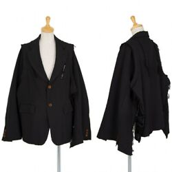 Comme Des Garcons Poly Dyed Frayed Poncho Jacket Size Sk-91726