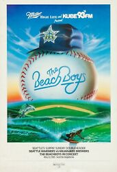 New The Beach Boys Tour Concert Poster Print Art Canvas 1983 Mariners Vs Brewers
