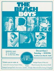 New The Beach Boys Tour Concert Poster Print Art Canvas Mid South Raleigh