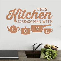 Kitchen Love Quotes Wall Stickers Removable Decals Art DIY Vinyl Home Decor