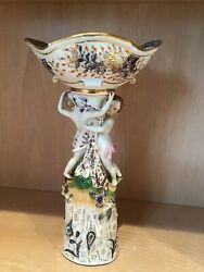Antique Meissen 18th Century Porcelain Compote With Figures Of Children
