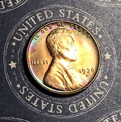1936-d Lincoln Wheat Cent Toned Unc Collector Coin For Your Collection Or Album