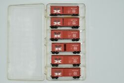 Kadee Micro Trains N Scale New Haven Six Pack 40 Foot Boxcars Orange Livery