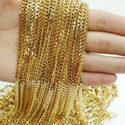 Gold Tone 316l Stainless Steel Chain Necklace For Men Geometric Jewelry