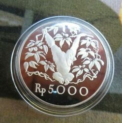 1974 Royal Mint Proof Indonesia Conservation Orangutan Silver 5000 Rupees Coin