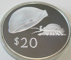 1978 Royal Mint Fiji 20 Dollar Silver Proof Golden Cowrie Coin Conservation Cc