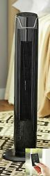 Floor Tower Fan With Remote Control Quiet 3-speed Oscillating Cooling Portable F