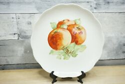 Vintage 1920s Chateau Dresden Schumann Bavaria China Cabinet Plate W/ Apples