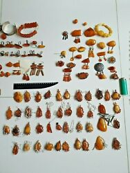 Personal Collection 115 Items 2000gr Antique Baltic Amber Necklace Brooches Ring