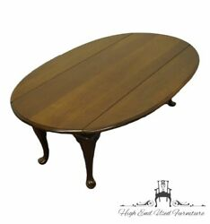 Ethan Allen Georgian Court Solid Cherry Traditional Style 52 Drop Leaf Accen...