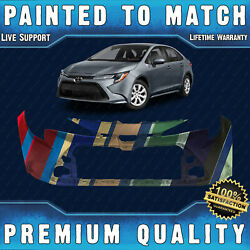 New Painted To Match - Front Bumper Cover Fascia For 2020 2021 Toyota Corolla