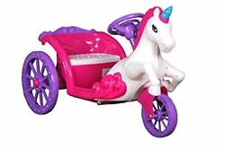 Unicorn Carriage 6v Battery Powered Ride On Car Pink And Purple