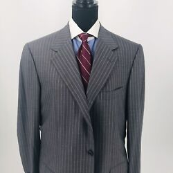 Nwt Brioni Suit Gray Pinstripe 42r Us Super 150's Wool Made In Italy