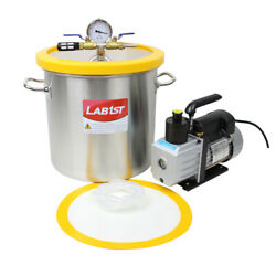 5 Gallon Stainless Steel Degassing Vacuum Chamber And 5cfm Vacuum Pump From Usa