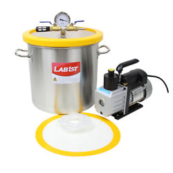 5 Gallon Stainless Steel Vacuum Chamber With 7cfm Pump