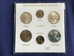 1885-2000 One Hundred Years Dollars Bu Silver Set Of 6 Coins E7971