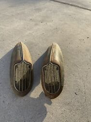1936 Dodge D2 Horn Covers With Grill And Top Trim Rare Hard To Find Mopar