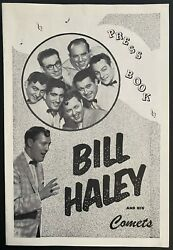 1957 Bill Haley And His Comets Press Book Live Concert Promotions Rock Music