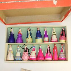 Vintage Christmas Decorations Of Russian Country Dolls 1950's