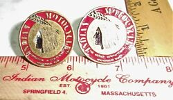Indian Motorcycle License Plate Bolts Collectible Old Usa Mc Cycle Memorabilia G