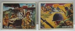 2 Old 1950s Freedoms War Korea Military Chewing Gum Trade Cards 131 132