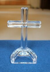 Waterford Cross Marquis Crystal Standing Tabletop Engravable Plaque 7in Likenew